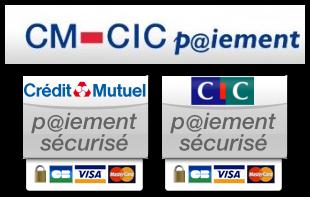 Logo CM - CIC Paiement en ligne sécurisé